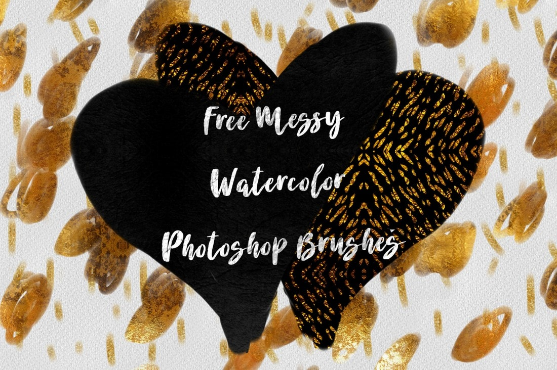 Free Messy Photoshop Watercolor Brushes