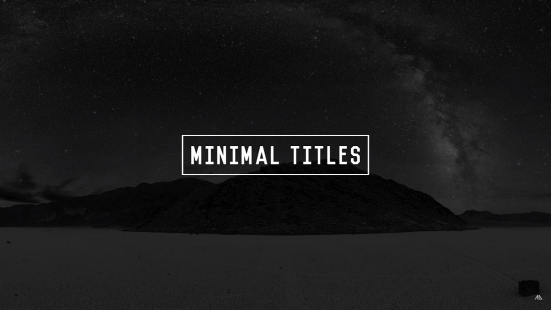 Free Minimal After Effects Minimal Title Animations
