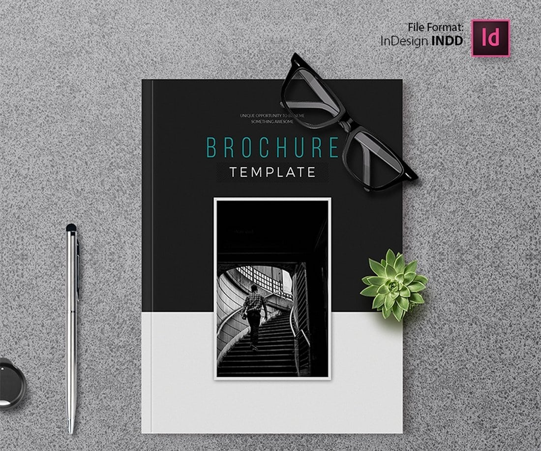 Free-Minimal-Bifold-Brochure-Template 30+ Annual Report Templates (Word & InDesign) 2020 design tips  Inspiration|annual|report|template