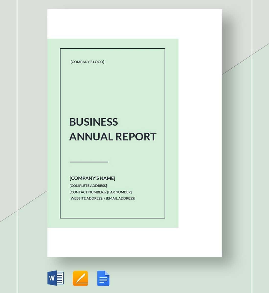 Free-Minimal-Business-Annual-Report-Template 50+ Annual Report Templates (Word & InDesign) 2021 design tips
