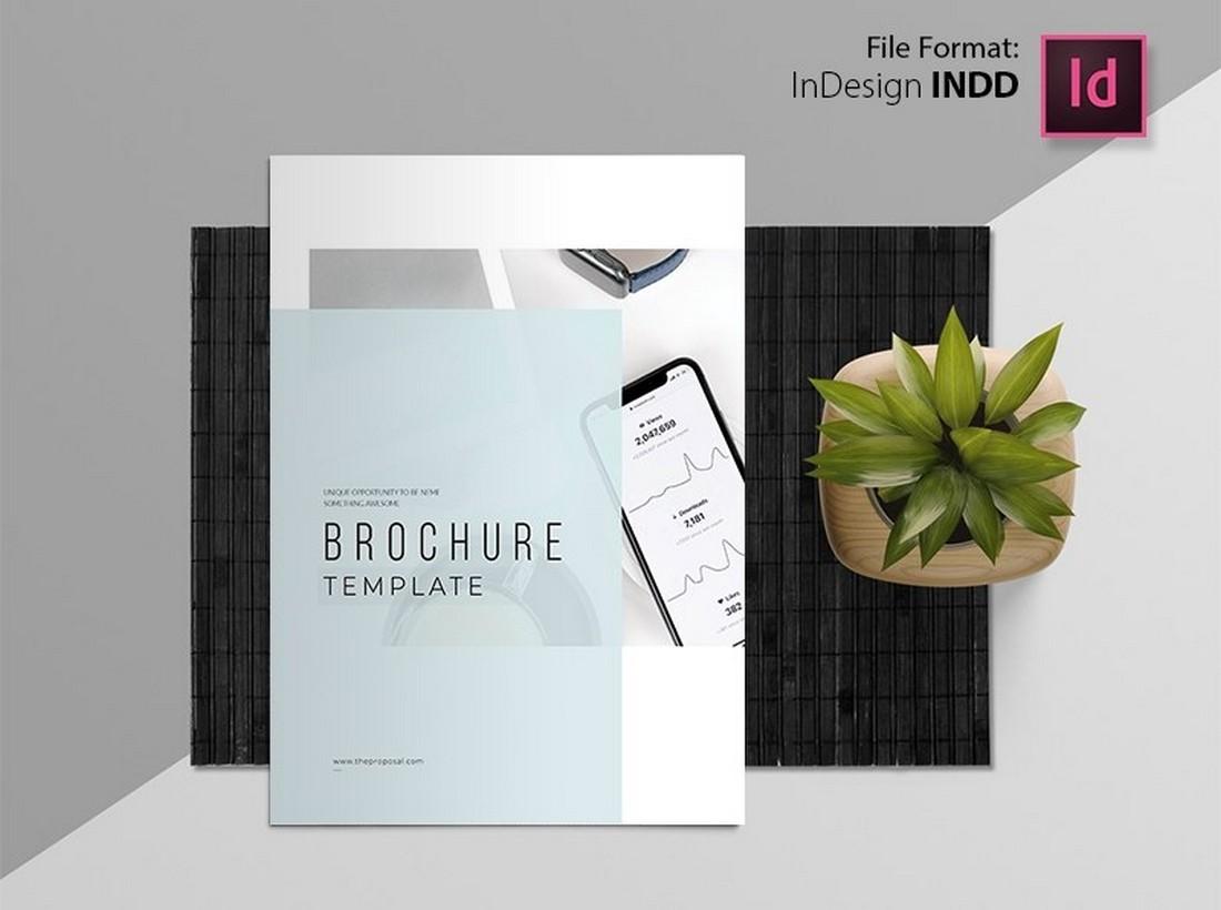 Free Minimal Corporate Brochure Report Template