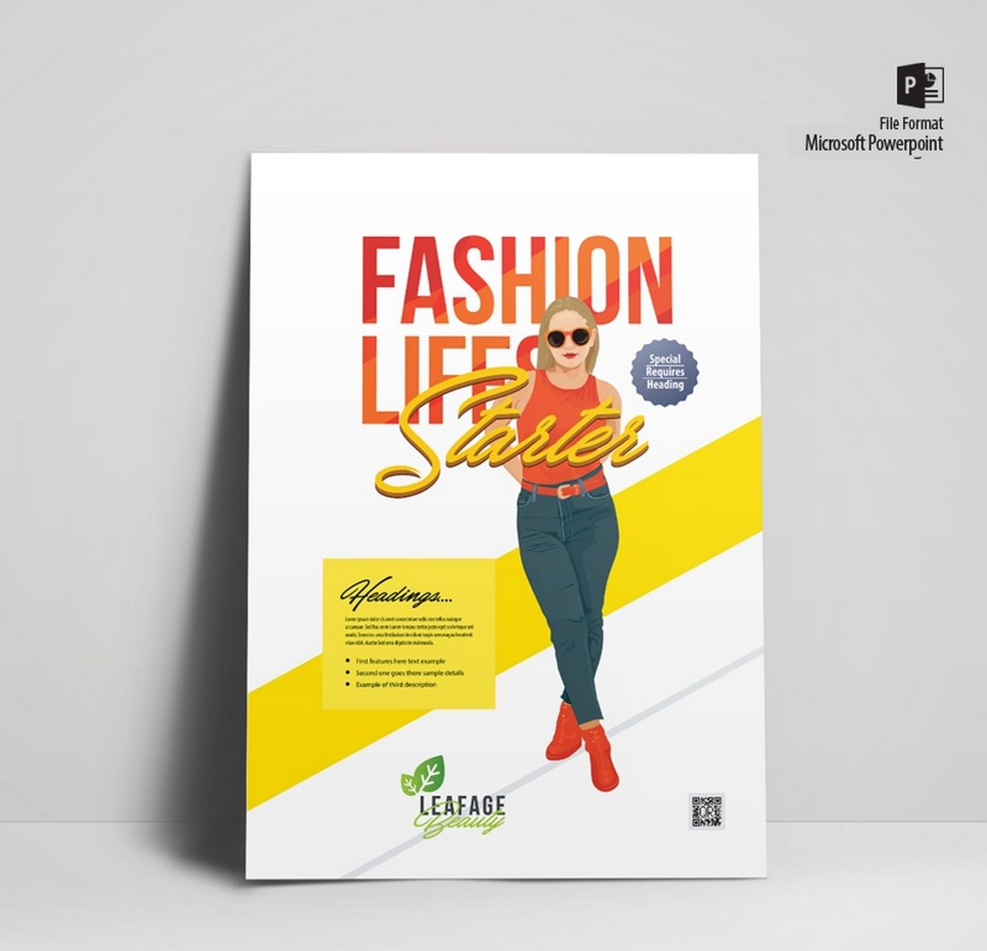 Free Minimal Fashion Flyer & Poster Template
