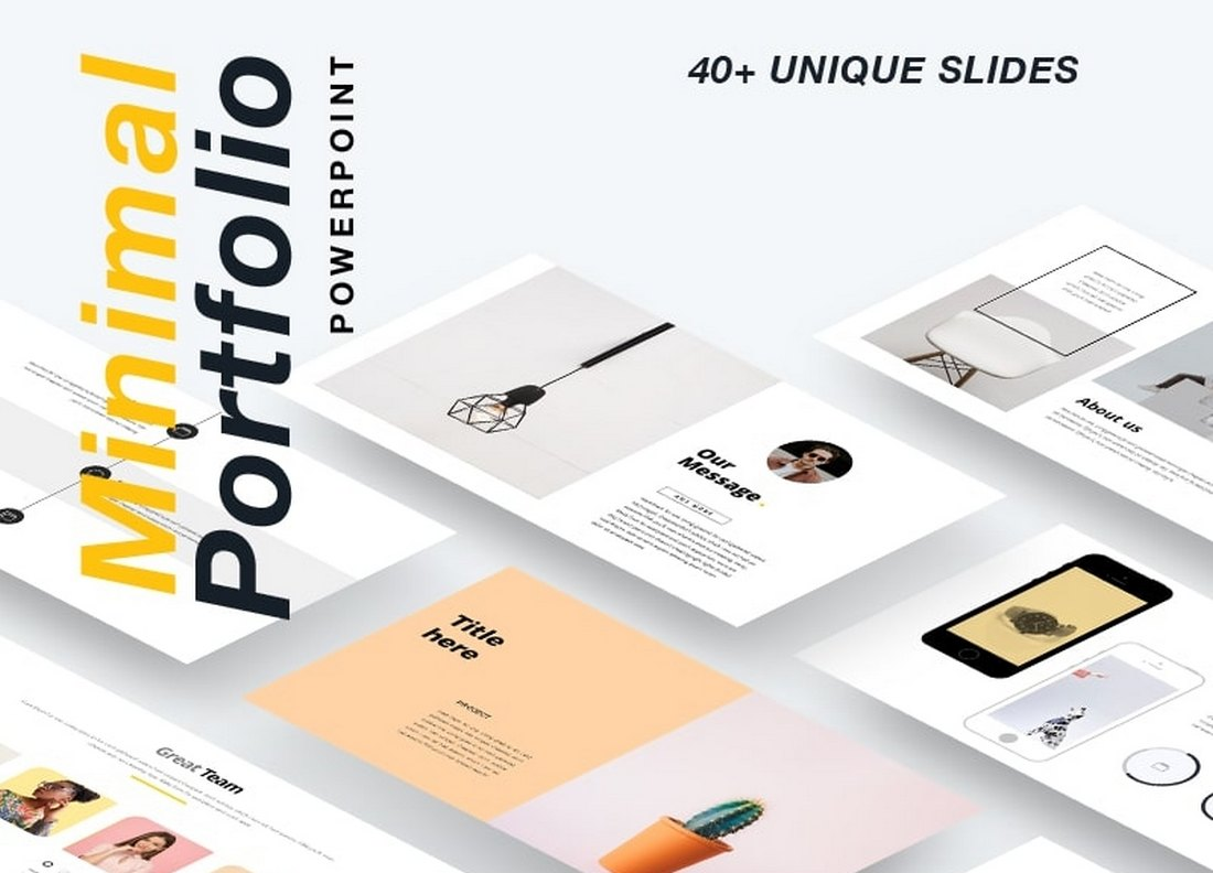 Free Minimal Portfolio PowerPoint Template