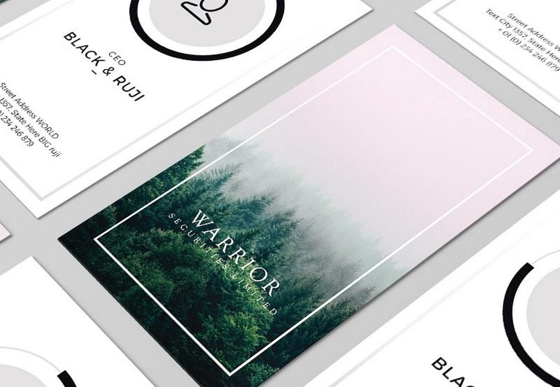 Free Minimal Portrait Business Card Template