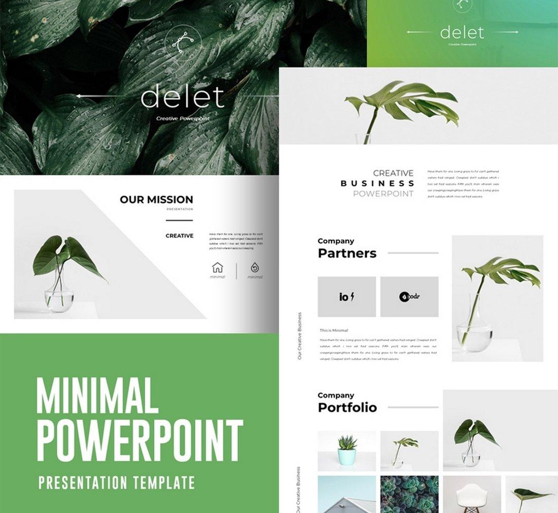 Free Minimal PowerPoint Presentation