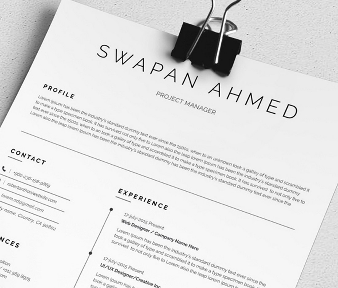 30  best free resume templates  for word