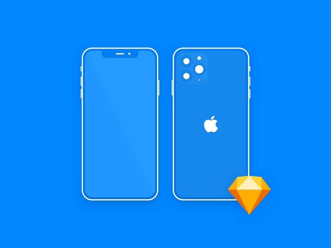 Free Minimal Sketch iPhone Mockup
