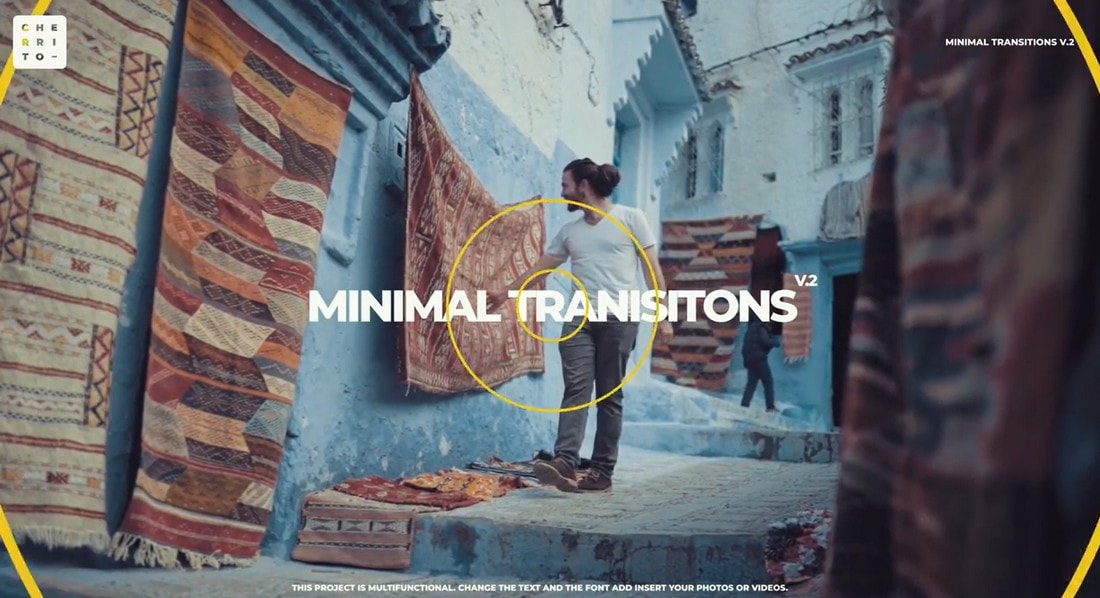 Free Minimal Transitions for After Effects