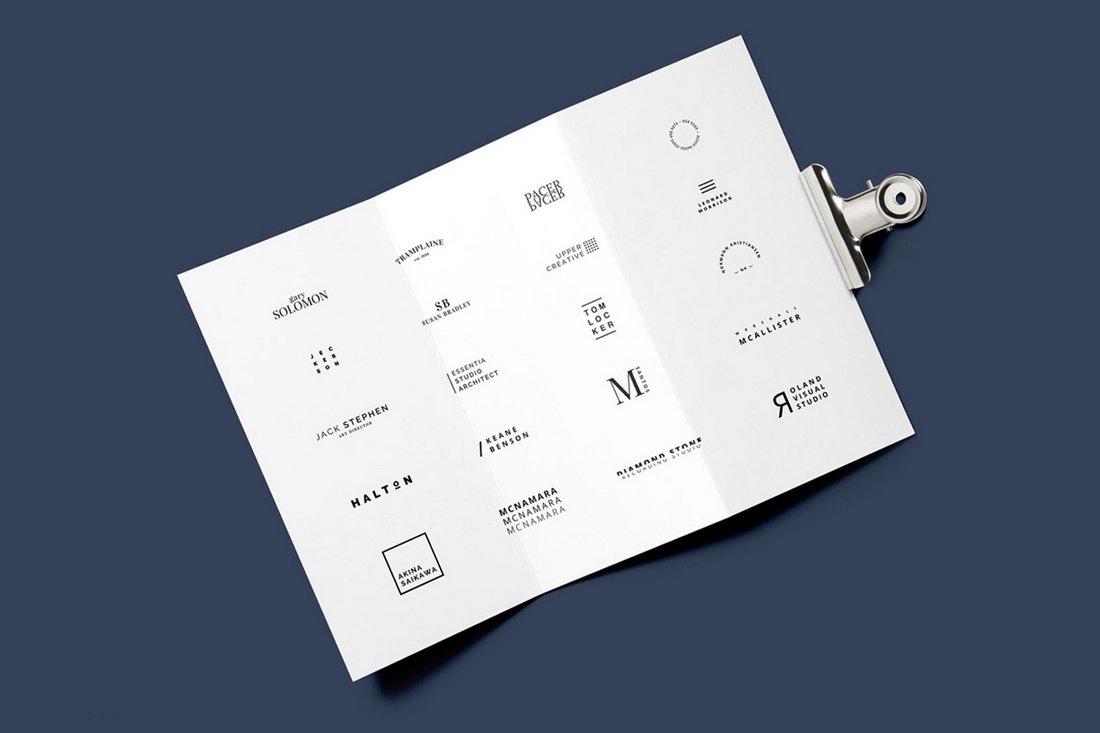 Free Minimalista Logo Template Pack