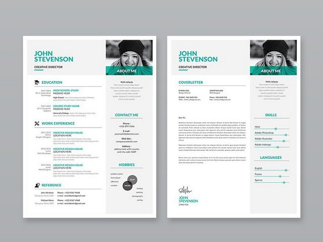 Free-Modern-3-Page-Resume-Template 50+ Best CV & Resume Templates 2020 design tips