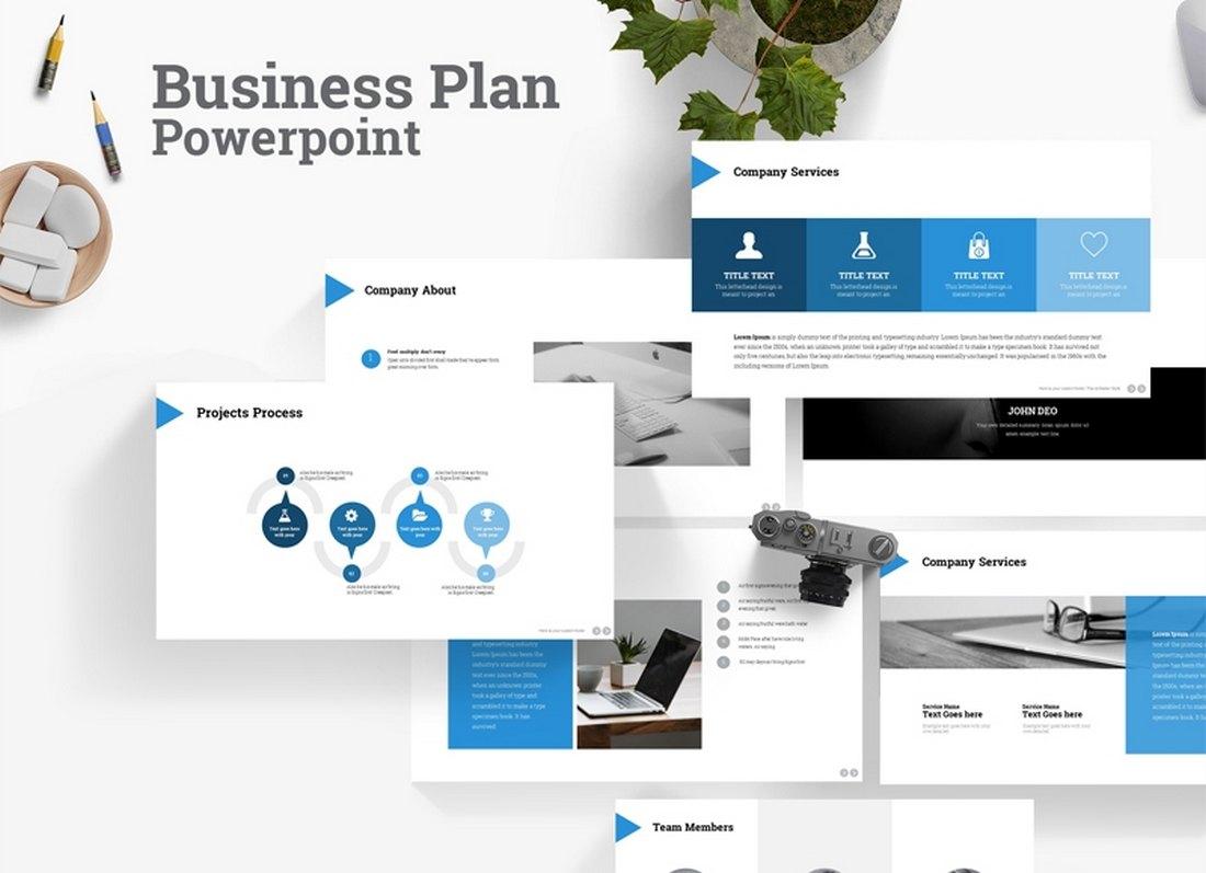 Free Modern B-Plan PowerPoint Template