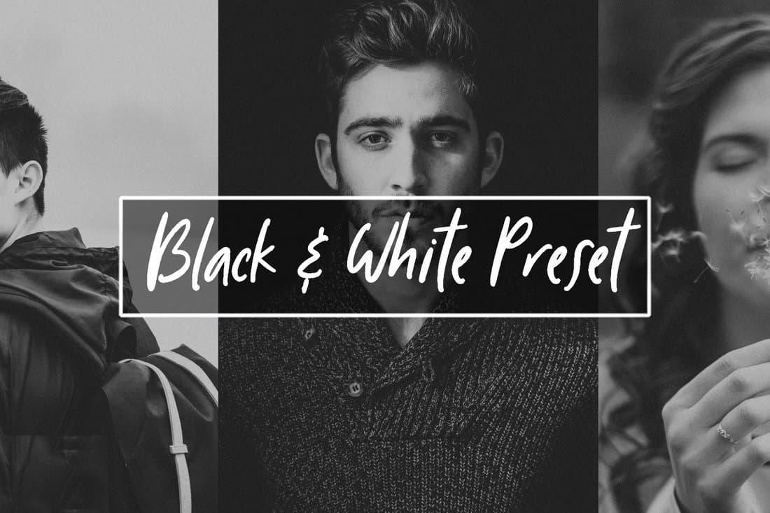Free Modern Black & White Lightroom Preset