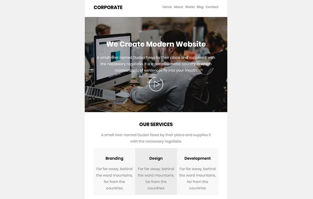 Free-Modern-Business-Email-Template 40+ Modern Responsive Email Templates 2021 design tips