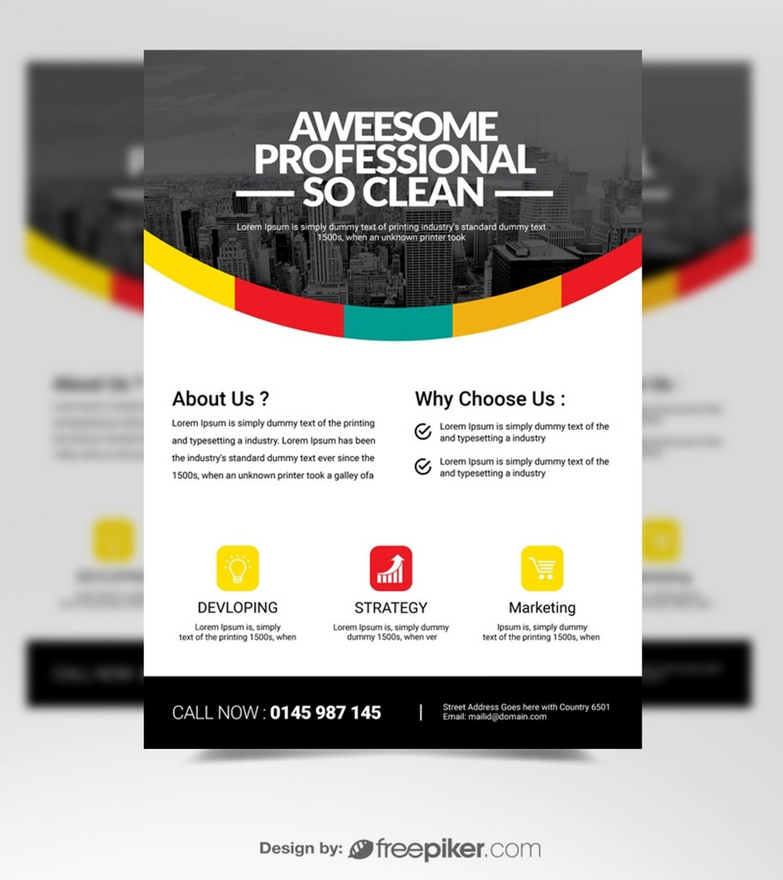 Free Modern Business Flyer Poster Template