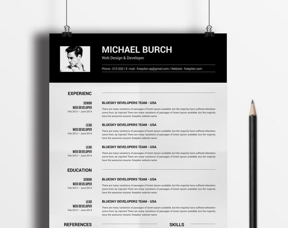 Free Modern CV Resume MS Word