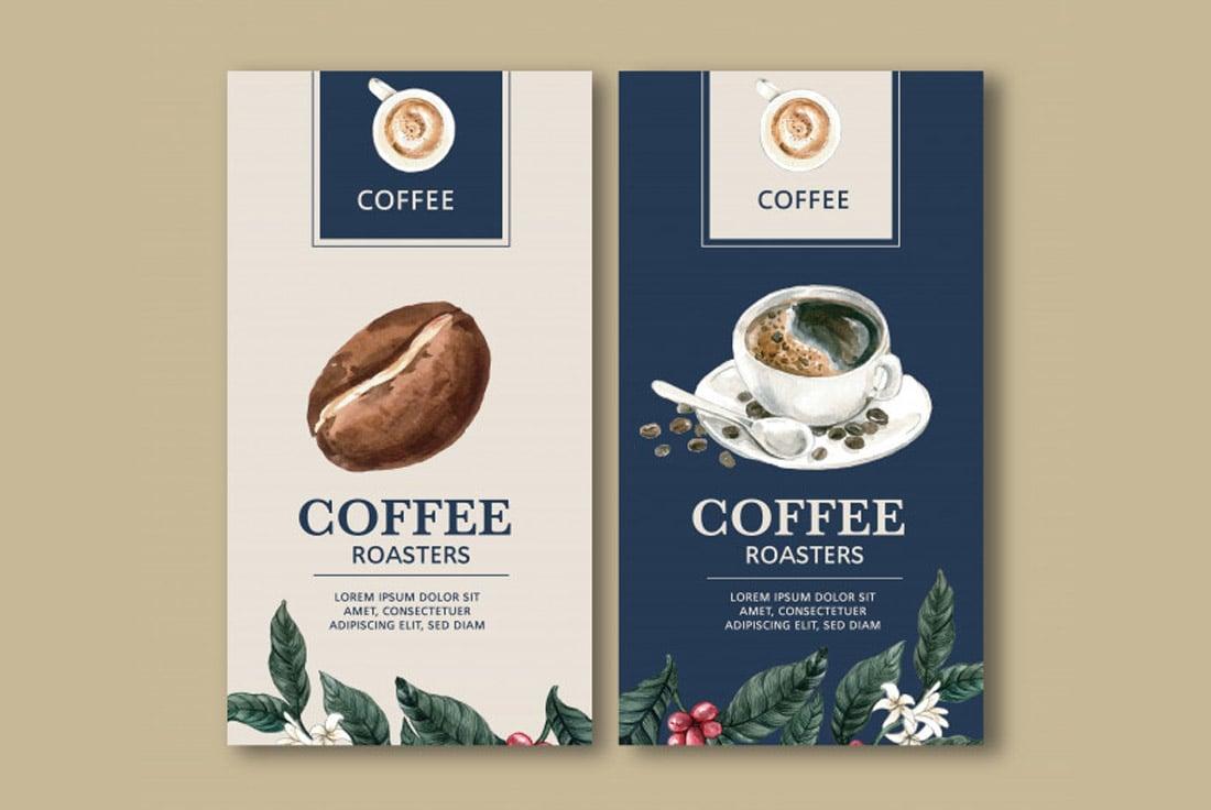 Free Modern Coffee Packaging Template