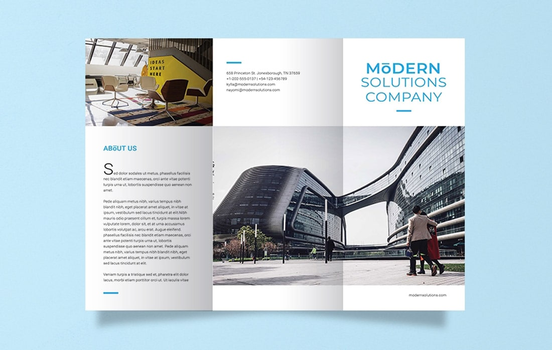 Free Modern Company Word Brochure Template