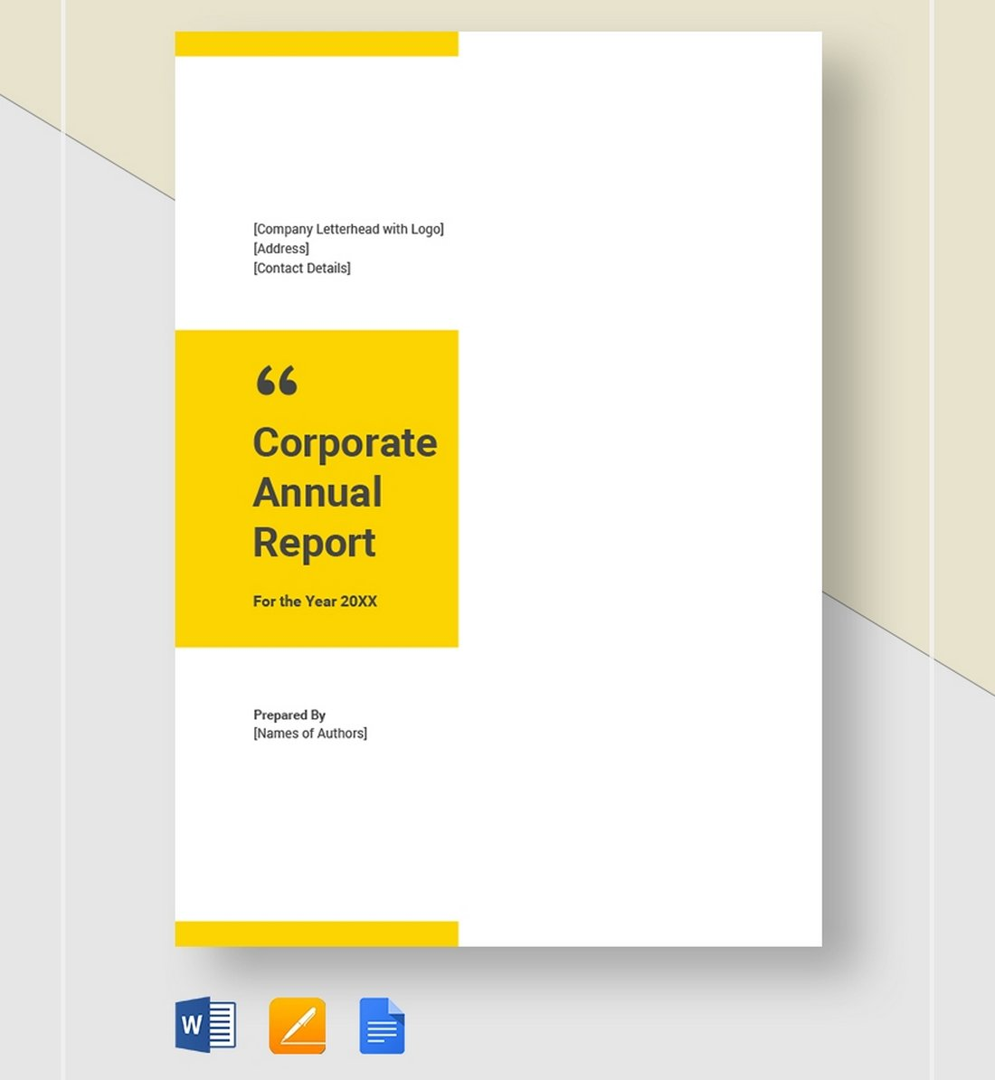 Free-Modern-Corporate-Annual-Report-Template 30+ Annual Report Templates (Word & InDesign) 2020 design tips  Inspiration|annual|report|template