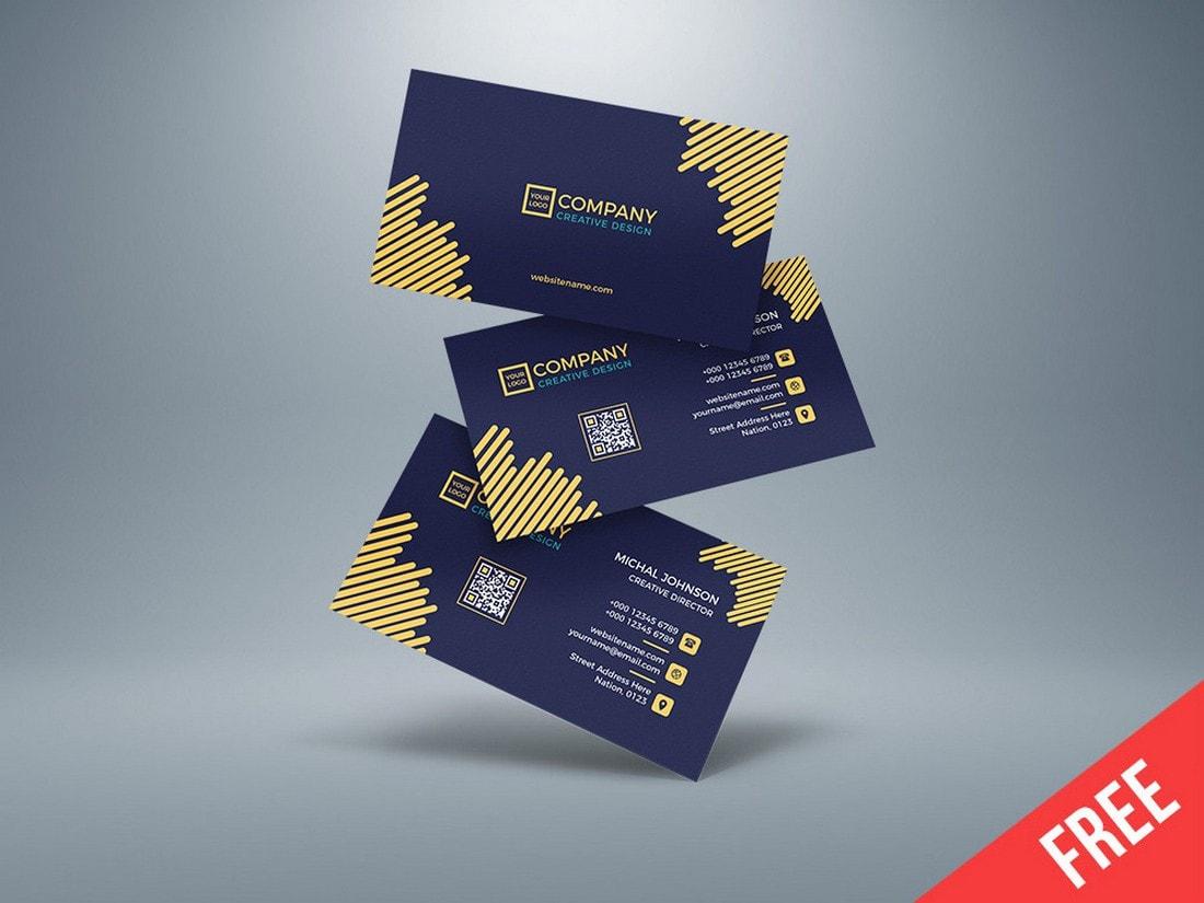Free Modern Corporate Business Card