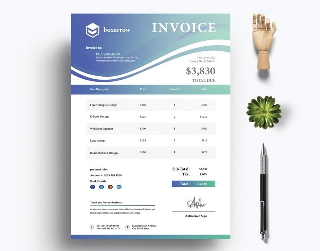 Free-Modern-Illustrator-Invoice-Template 20+ Best Invoice Templates for InDesign & Illustrator (Free + Premium) design tips