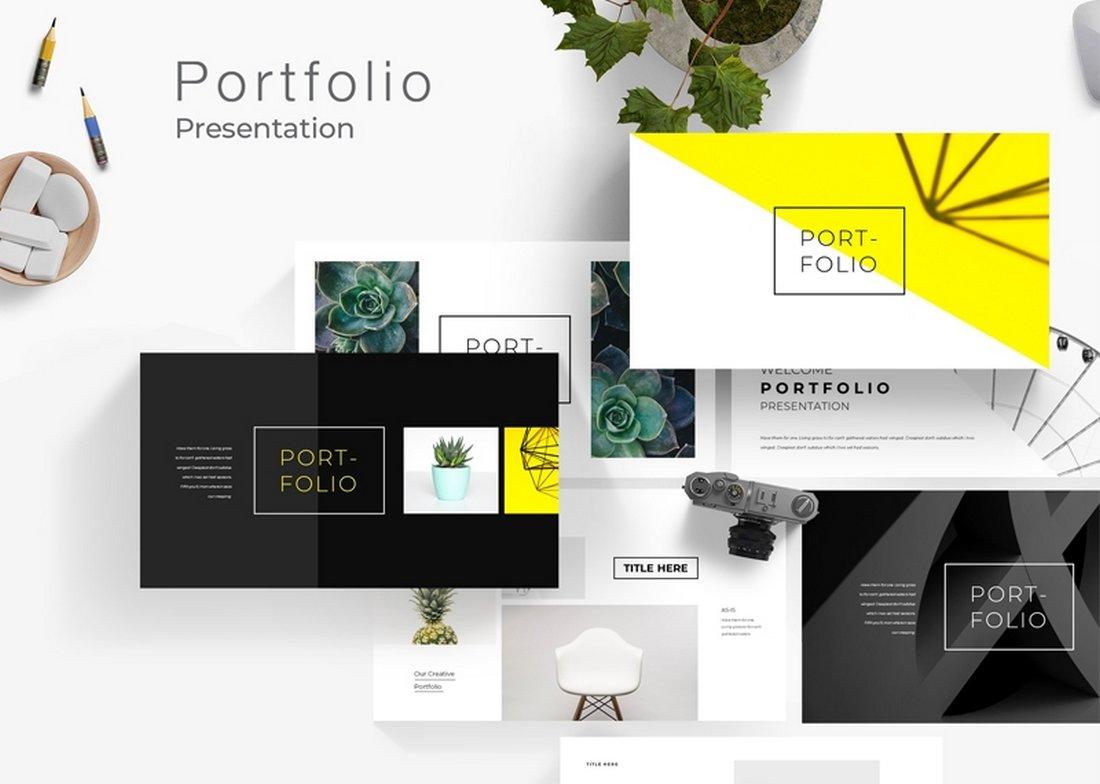 Free Modern Portfolio PowerPoint Template