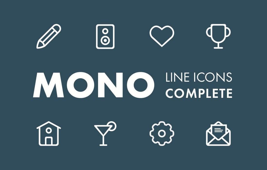 Free Mono Line Icons for Adobe XD