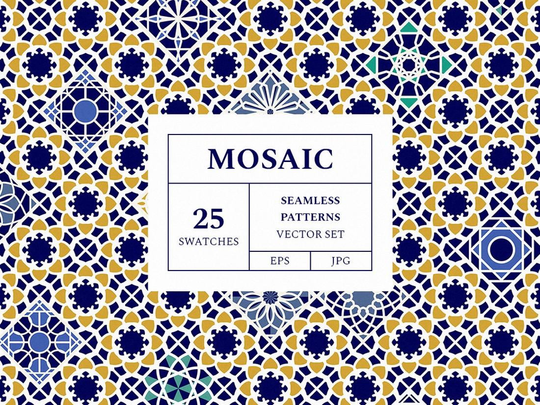 Free Mosaic Seamless Patterns