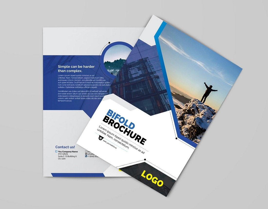 Free Multipurpose Bifold Brochure Template