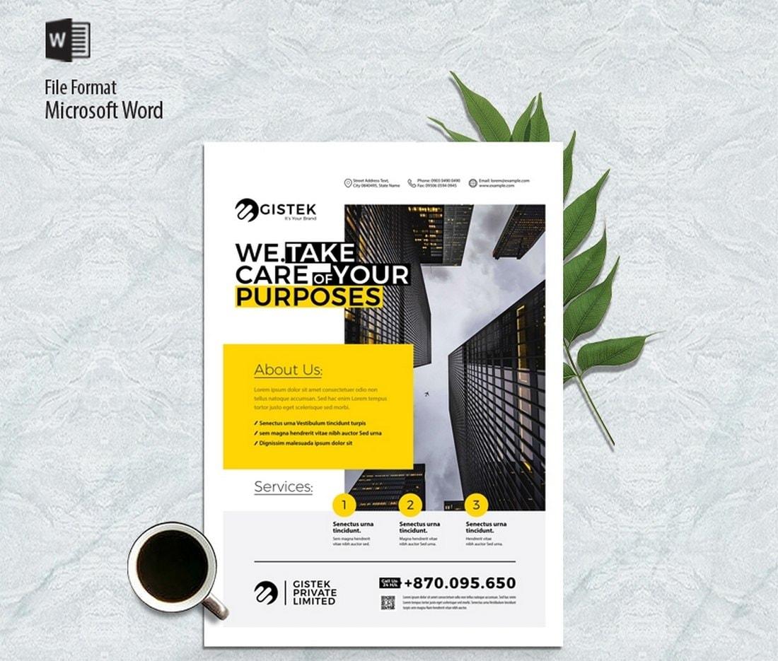 Free Multipurpose Brochure Word Template