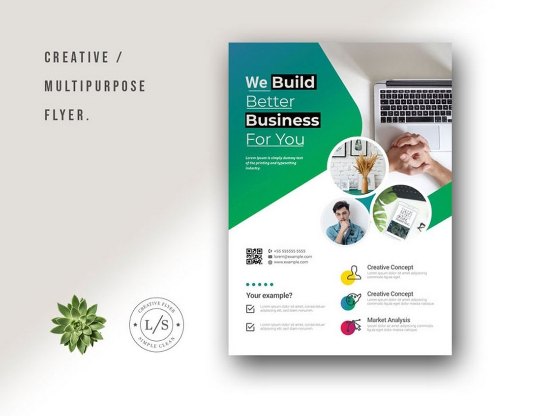 Free Multipurpose Business Flyer & Poster Template