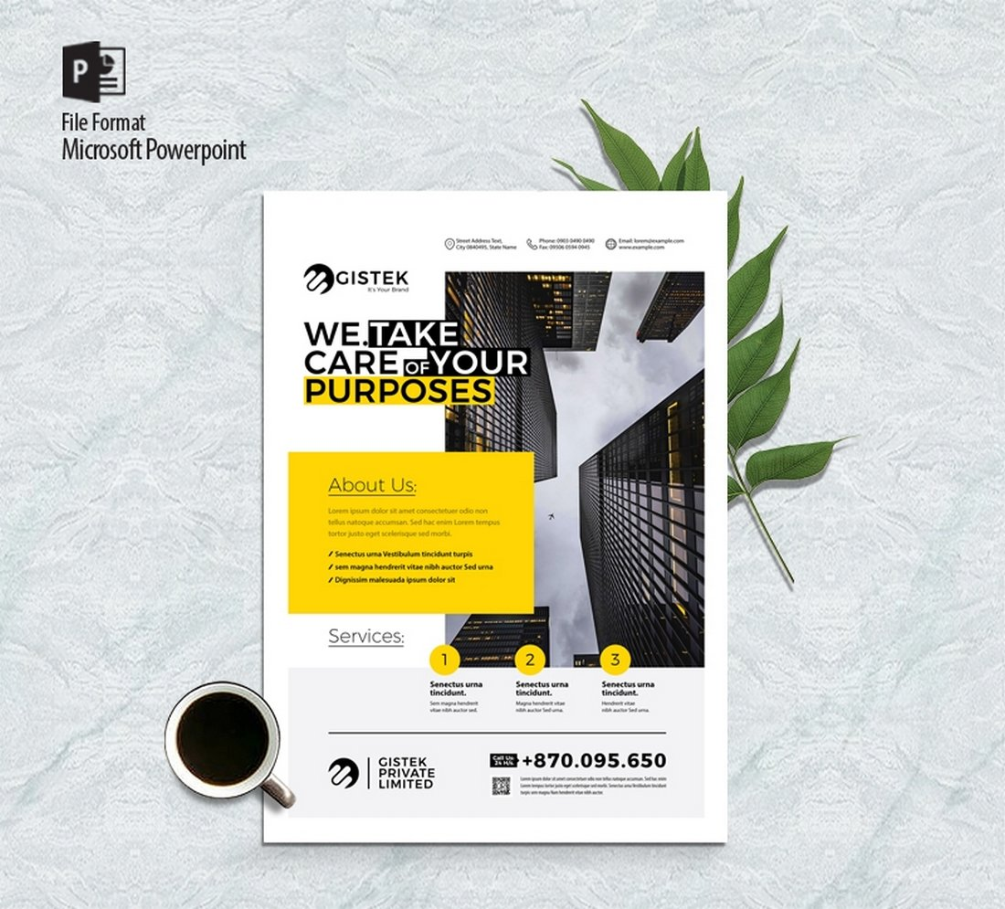 Free Multipurpose Corporate Flyer Poster Template