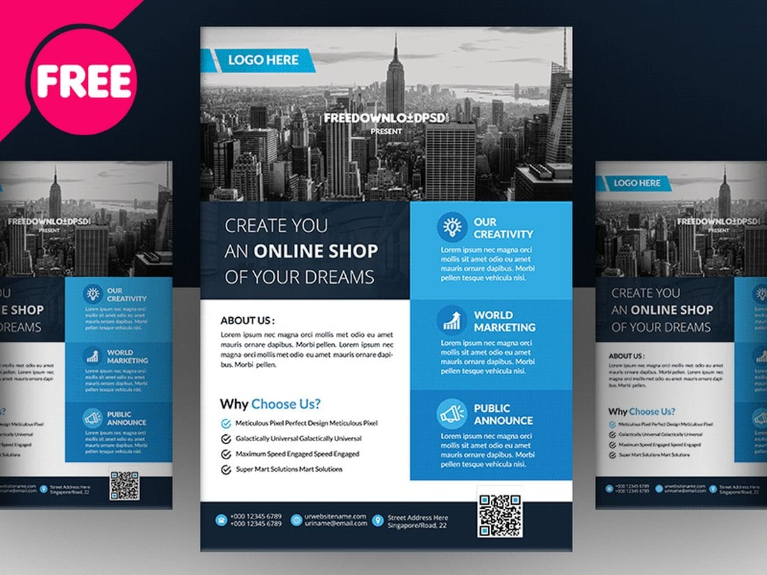 Free-Multipurpose-Real-Estate-Flyer 30+ Best Real Estate Flyer Templates design tips  Inspiration|flyer|property|real estate