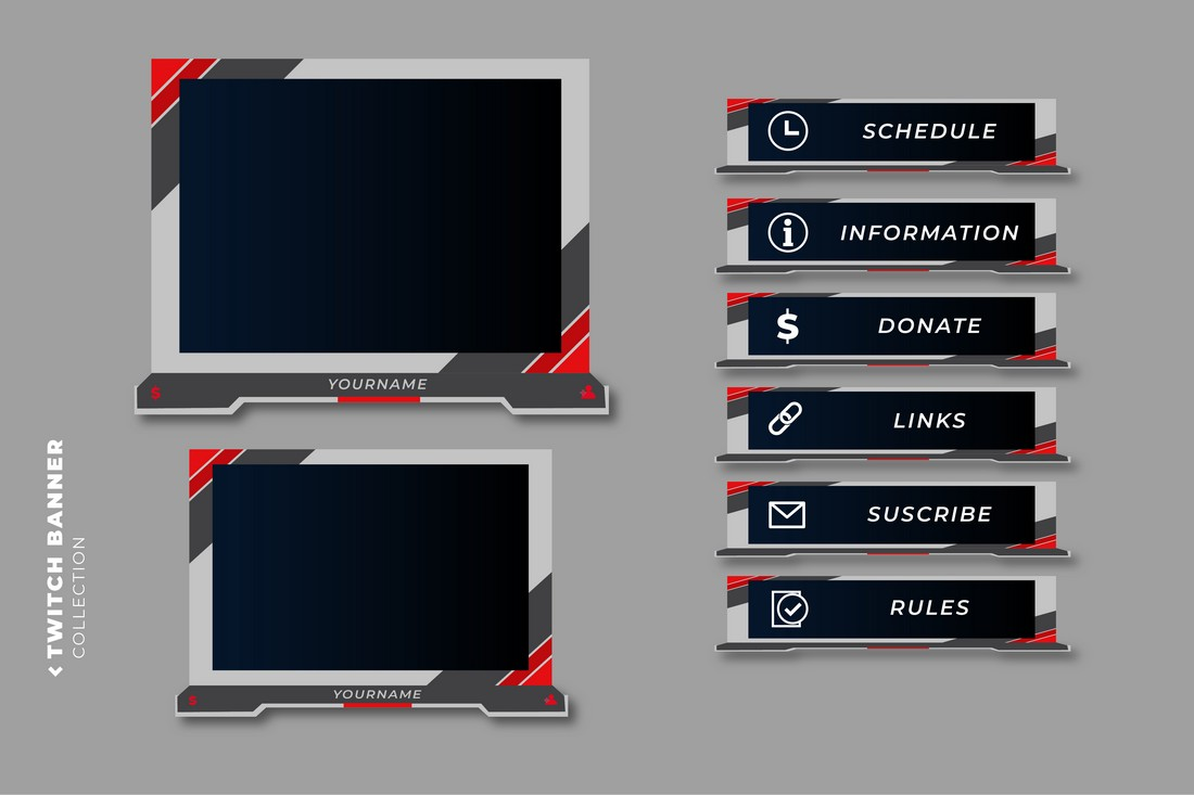 Free Multipurpose Twitch Overlay Template