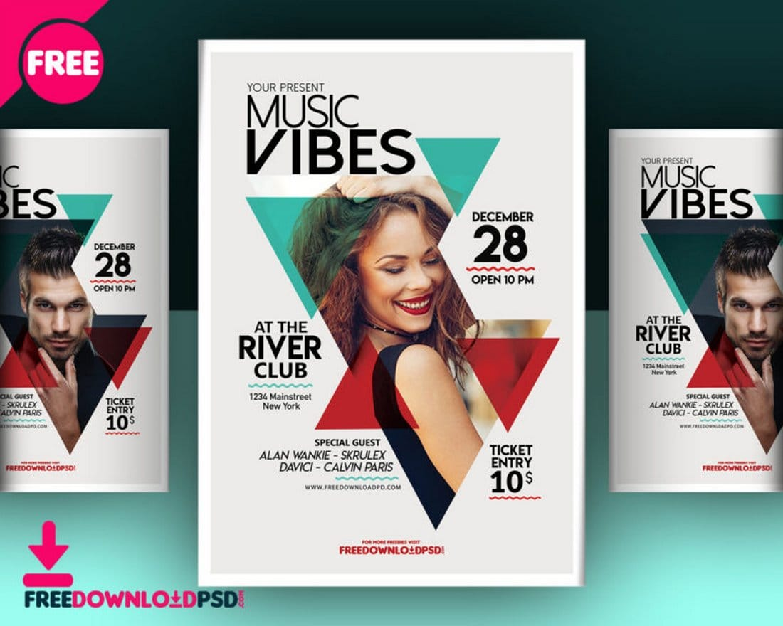 Free Music Club Flyer Template