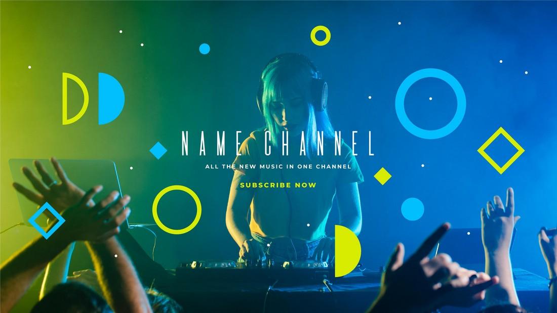 Free Music & DJ YouTube Banner Template