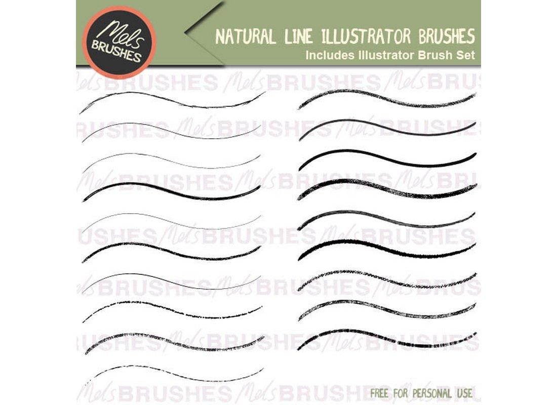 Free-Natural-Line-Art-Illustrator-Brushes 25+ Best Free Adobe Illustrator Brushes 2021 design tips