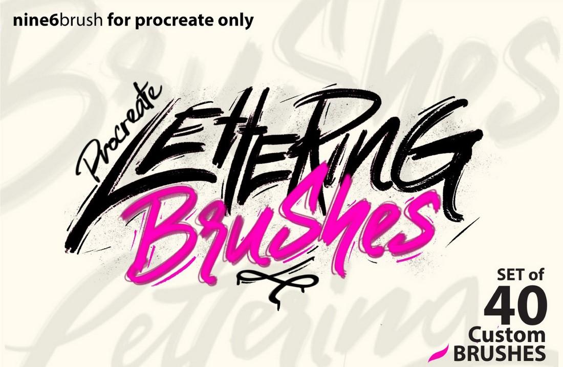 Free Nine6brush Procreate Lettering Brush