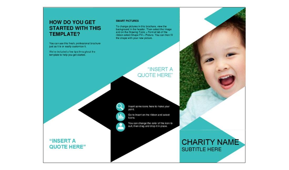 Free-Nonprofit-Brochure-Template 40+ Best Microsoft Word Brochure Templates 2021 design tips