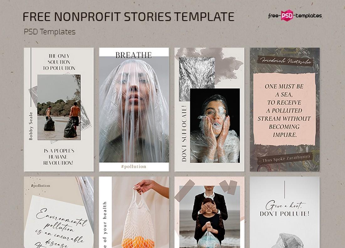 Free Nonprofit Instagram Stories PSDs