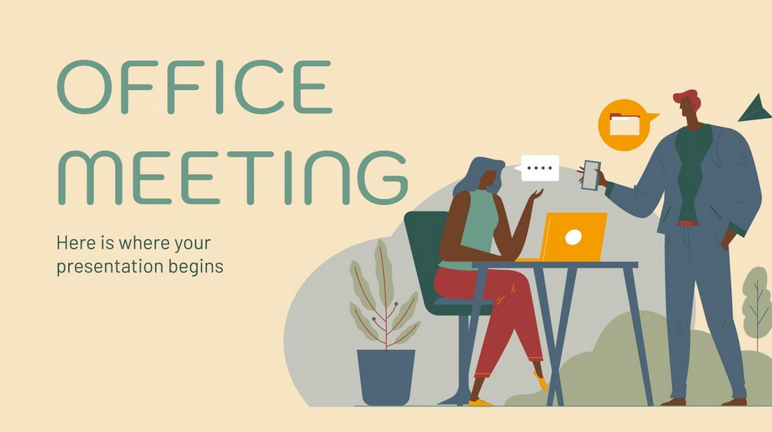 Free Office Meeting PowerPoint Template