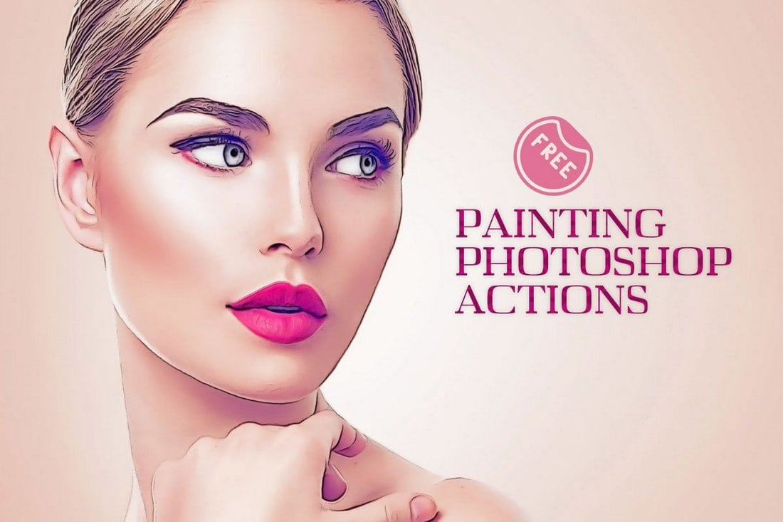 Free Oil Painting Photoshop Actions 2