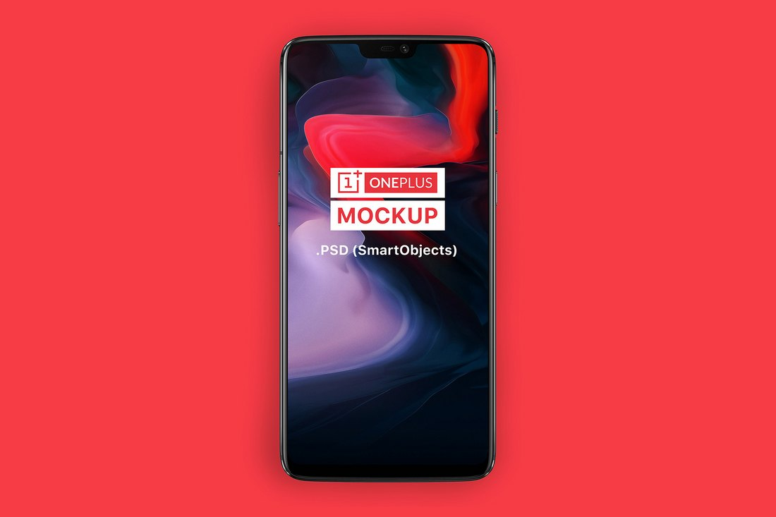 Free OnePlus 6 Android Phone Mockup