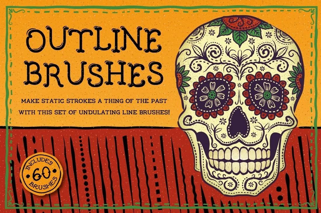 Free-Outline-Brushes-for-Illustrator 25+ Best Free Adobe Illustrator Brushes 2021 design tips