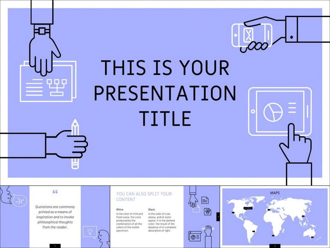 Free-Outline-Illustrated-Google-Slides-Themes 35+ Best Google Slides Themes & Templates 2019 design tips