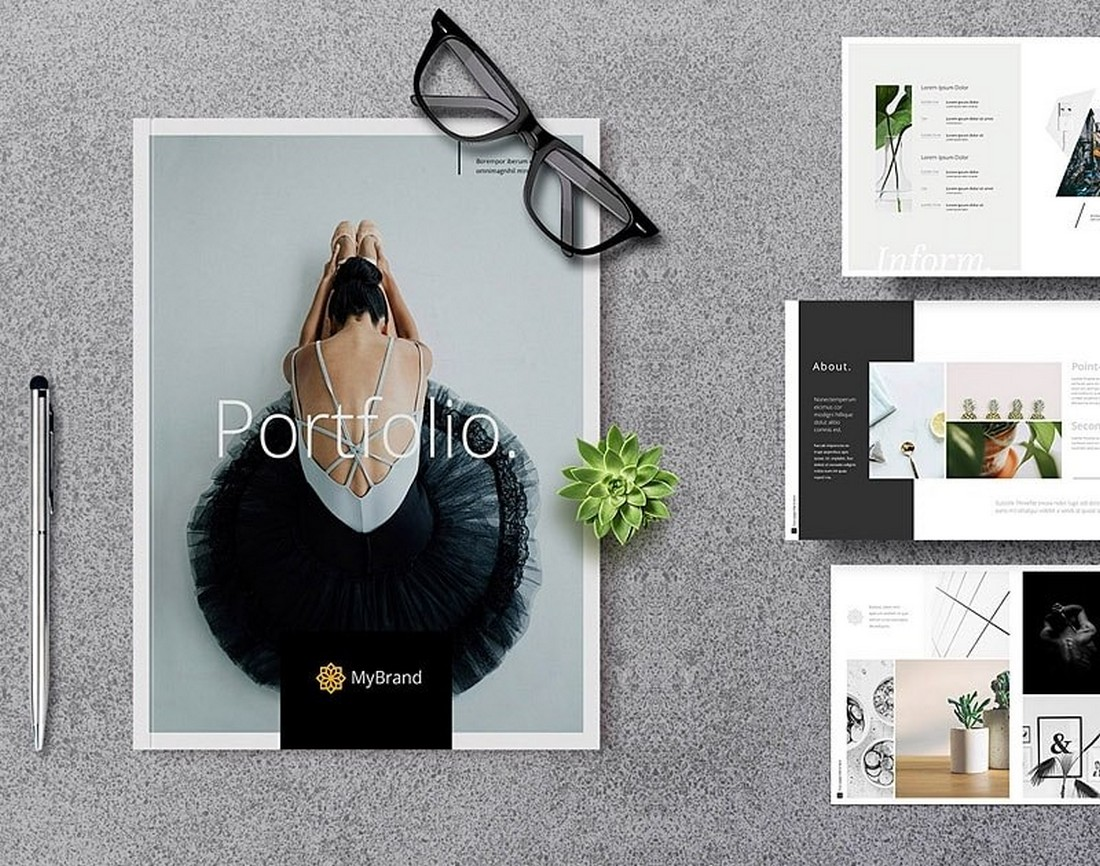 Free Photography Portfolio Lookbook Template