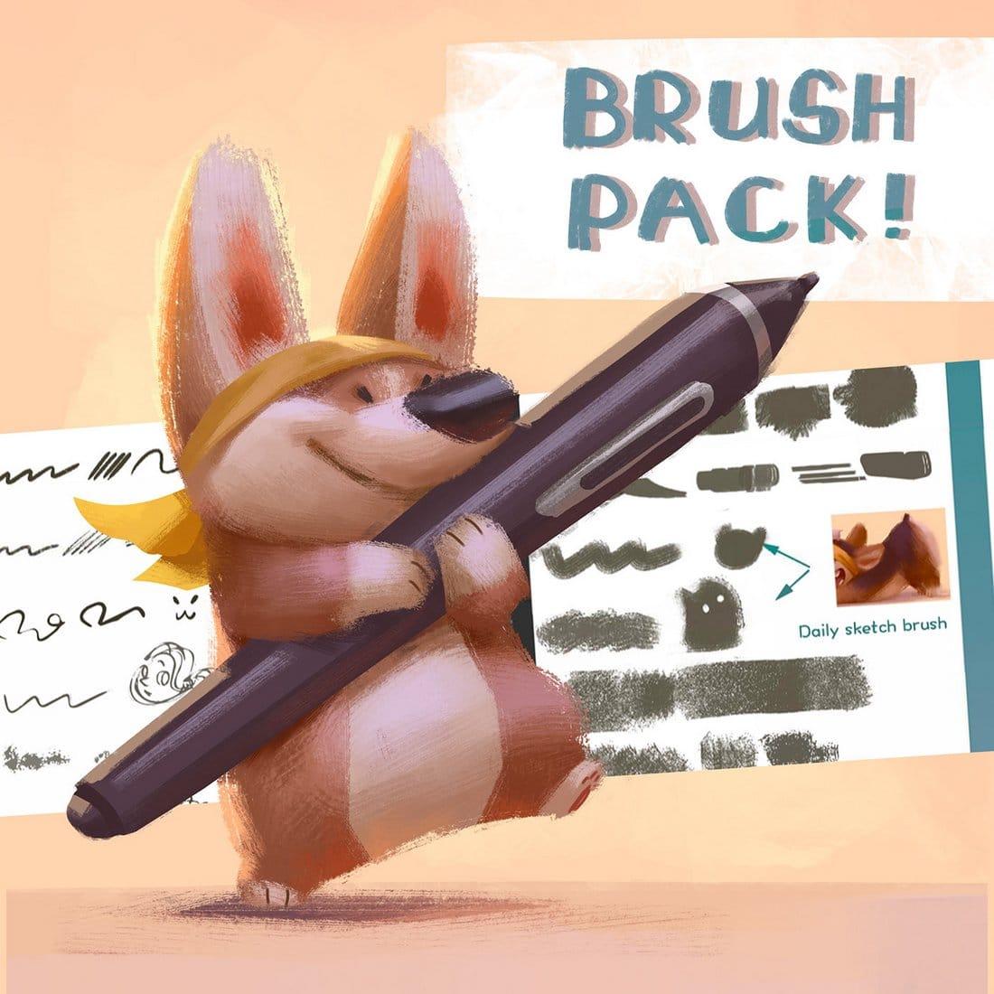 Free Photoshop Paint Brush Pack