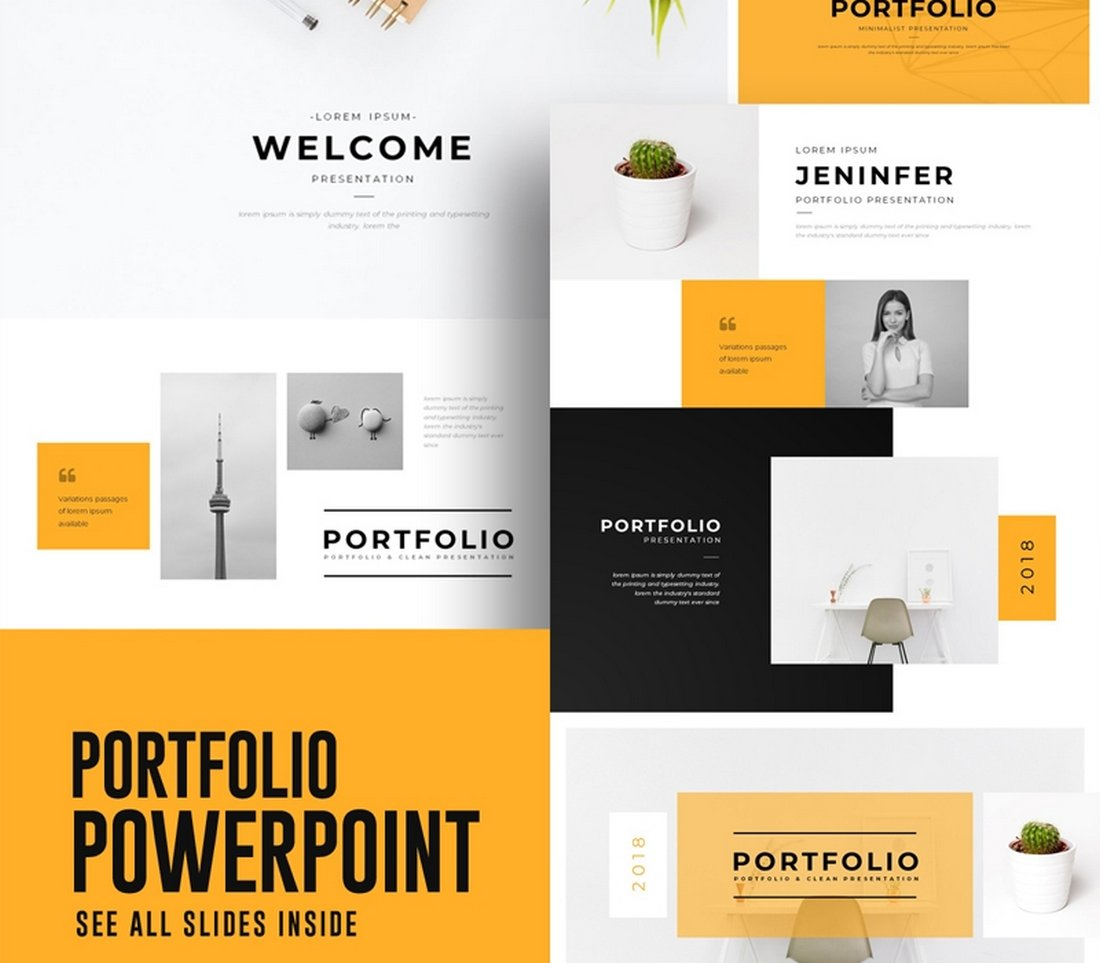 Free Portfolio PowerPoint Template