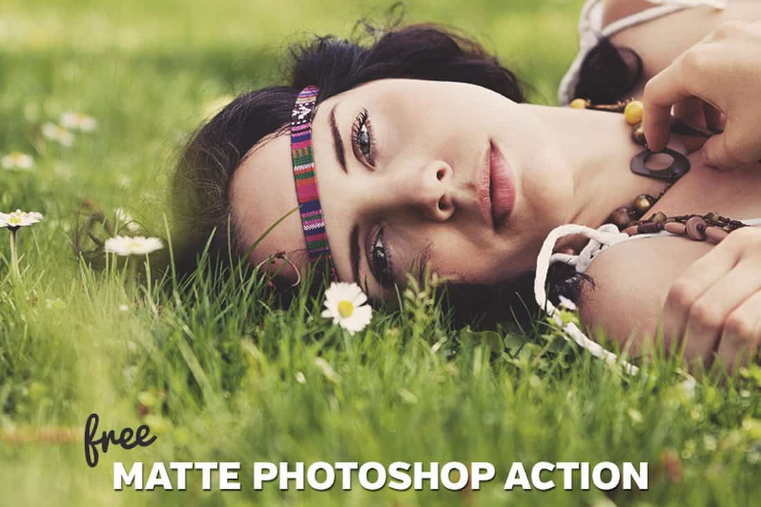 Free Portrait Matte Photoshop Action