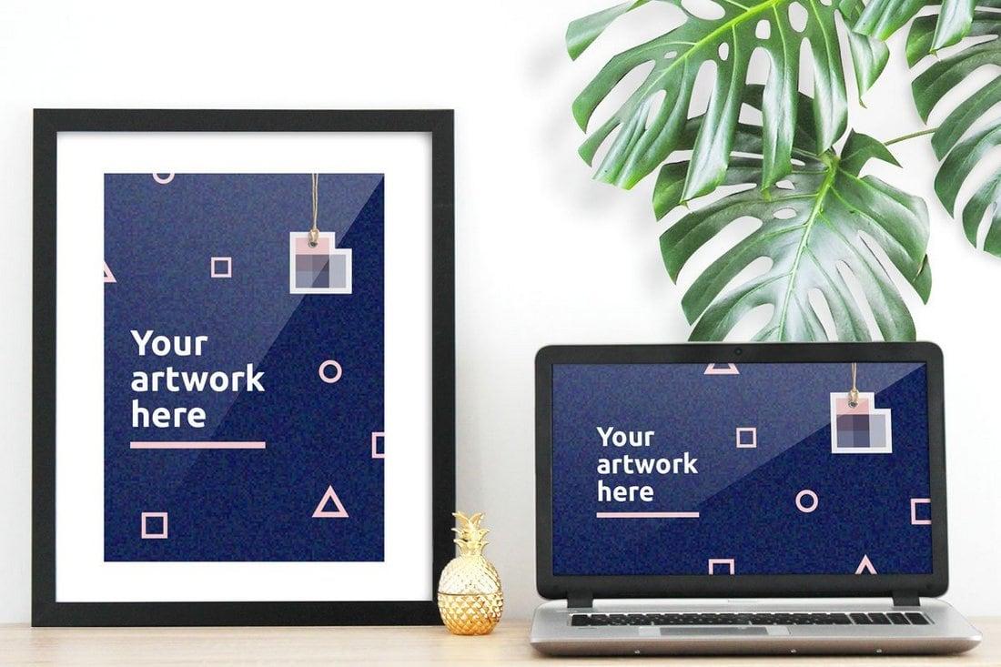 Free Poster & Computer Mockup