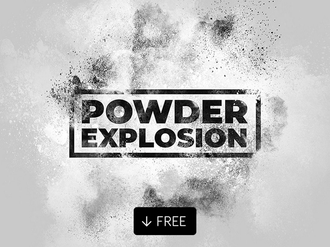 Free Powder Explosion Photoshop Action
